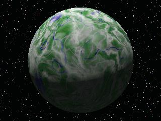 image of a green planet