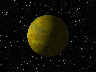 image of an orange planet